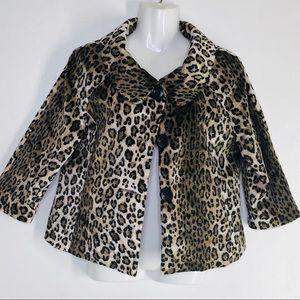 Rafaella Modern Trend Leopard Print Blazer Jacket